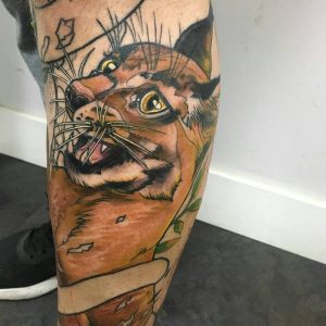 Tattoo gato a color