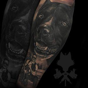 Tatuaje perro de Okami