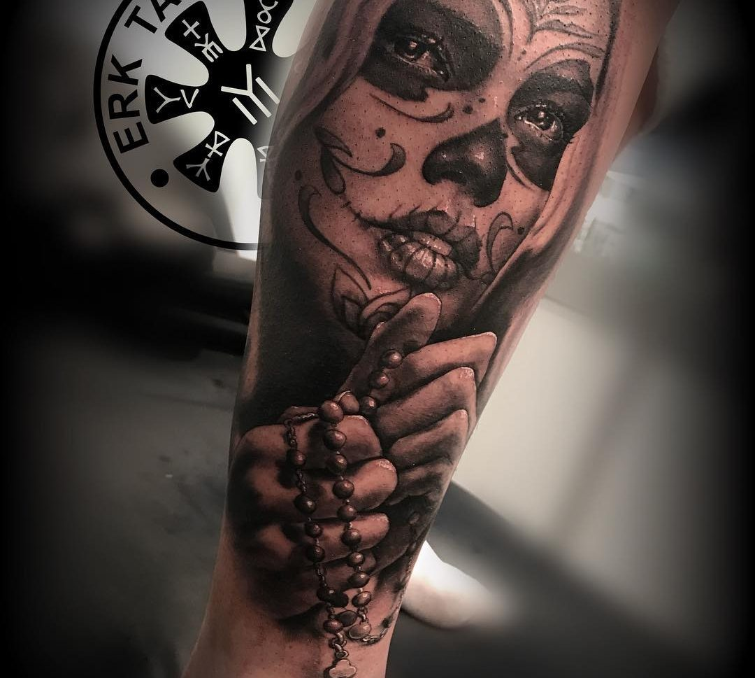Tatuaje Catrina En Brazo De Hombre Obsession Tattoo