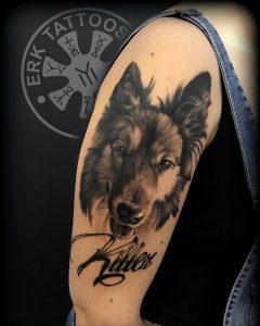 tattoo brazo perro