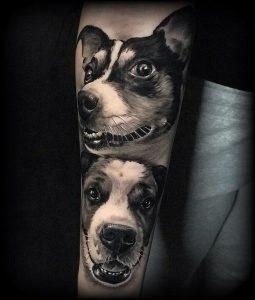 Tatuaje realista perro
