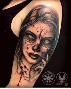 Tattoo realista Catrina