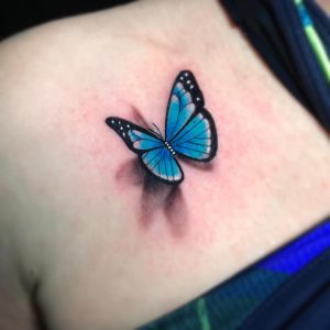 Tattoo mariposa a color