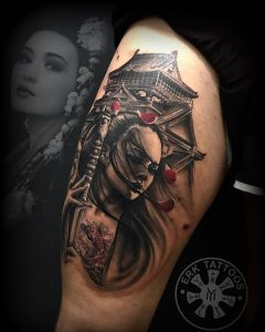 Tatuaje japonés realizado por Evo Erk (Obsession Tattoo)