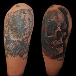 Trabajo Cover Up Obsession Tattoo Valencia