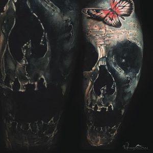 Tattoo tapado con realisto, Jota (Obsession Tattoo)