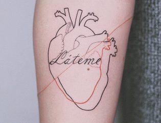 Tatuaje corazón para mujer.