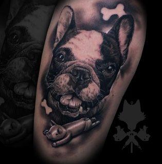 Tatuaje animal en realismo.