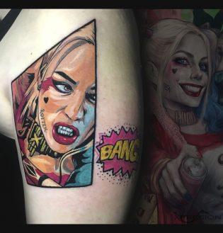 Tatuaje Harley Quinn a color.