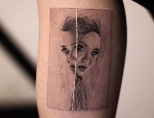 Tatuaje microrealismo de mujer