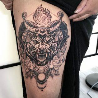 Tatuaje tigre para hombre.