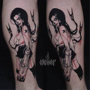 Tatuaje demonio darksurralism