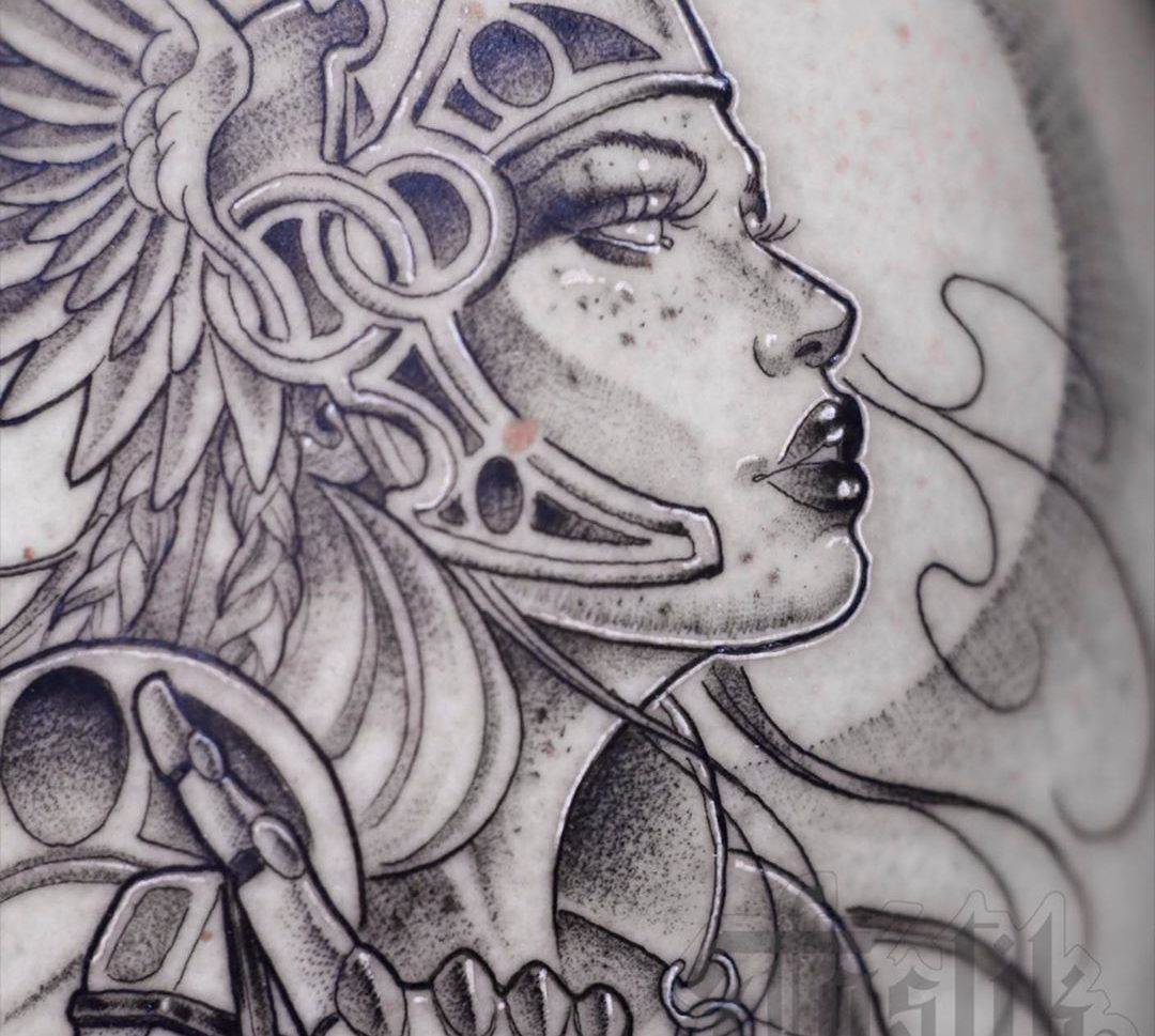 Tatuaje diosa para hombre
