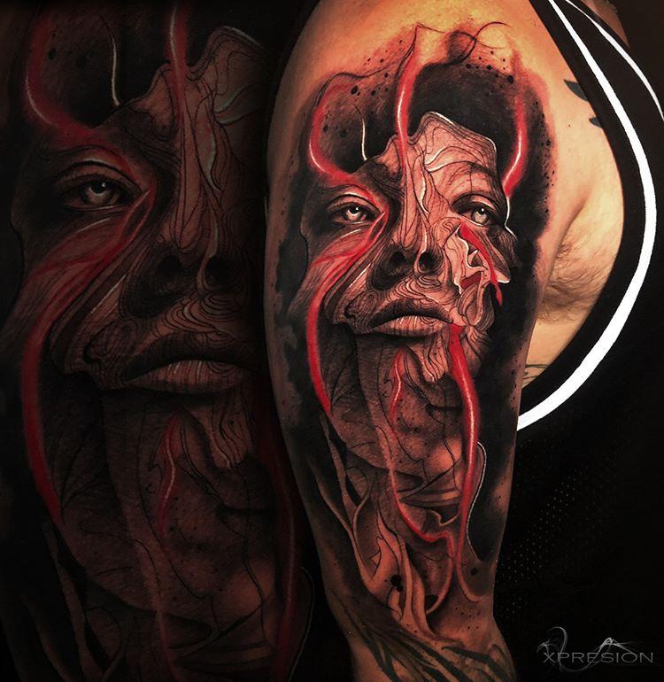 Tatuaje en realismo a color.