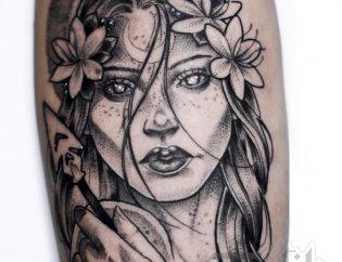 Tatuaje diosa griega en Valencia