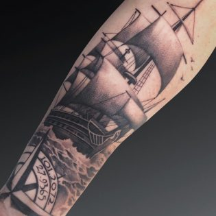 Tatuaje en realismo para hombre