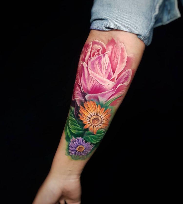 Tatuaje a color realizado en Valencia