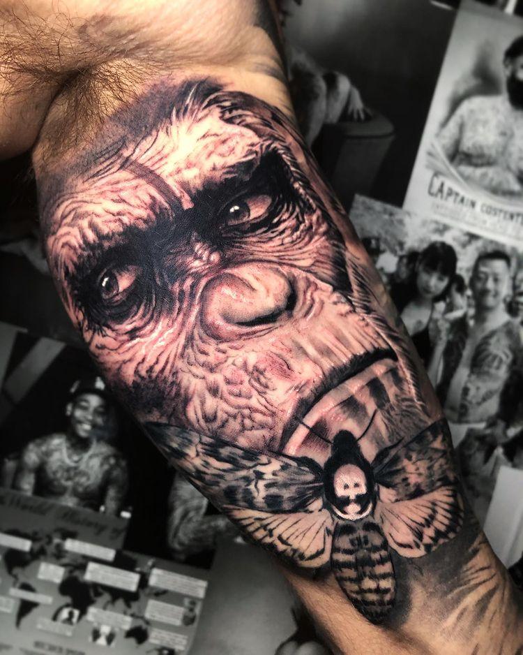 Tatuaje animal en realismo