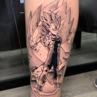 Tatuaje para hombre Dragon Ball