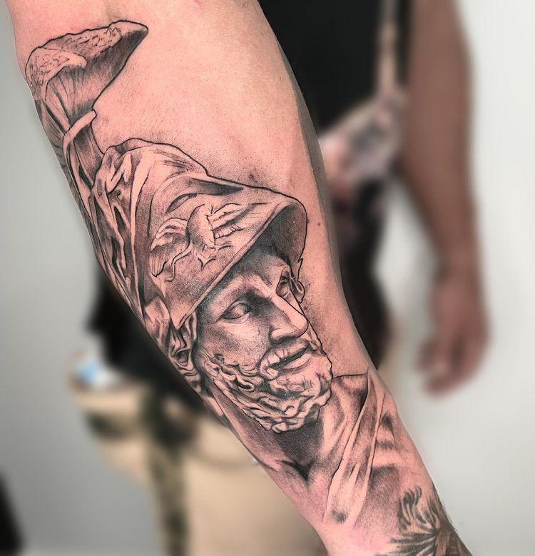 Tatuaje escultura para hombre