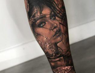 Tatuaje mujer en Obsession Tattoo Valencia
