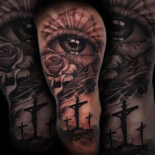 Tatuaje ojo en realismo